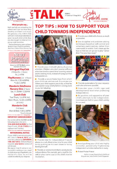 Julia Gabriel Newsletter