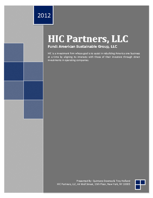 eBrochure: HIC Partners, LLC_Fund: American Sustainable Group