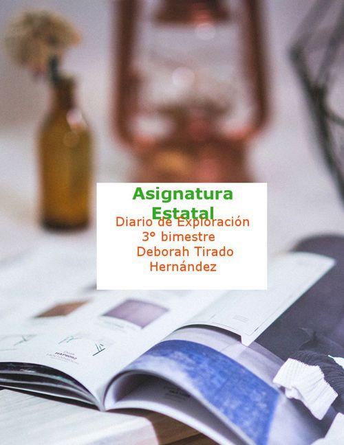 DiariodeExploración 3 bimestre