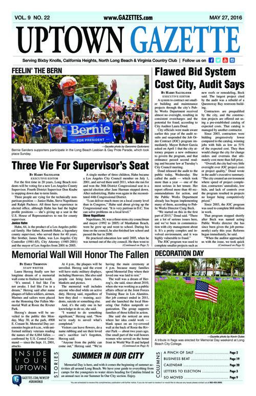 Uptown Gazette  |  May 27, 2016