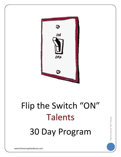 TALENTS - 30 Day Program Workbook - CHAPTER 1