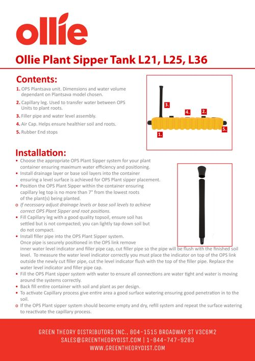 Green Theory Distributors - Linkable Tank Instruction Manual