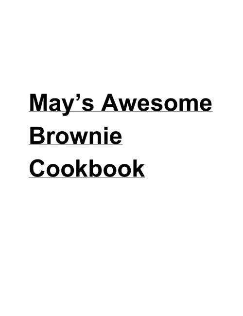 Digital Brownie Cookbook