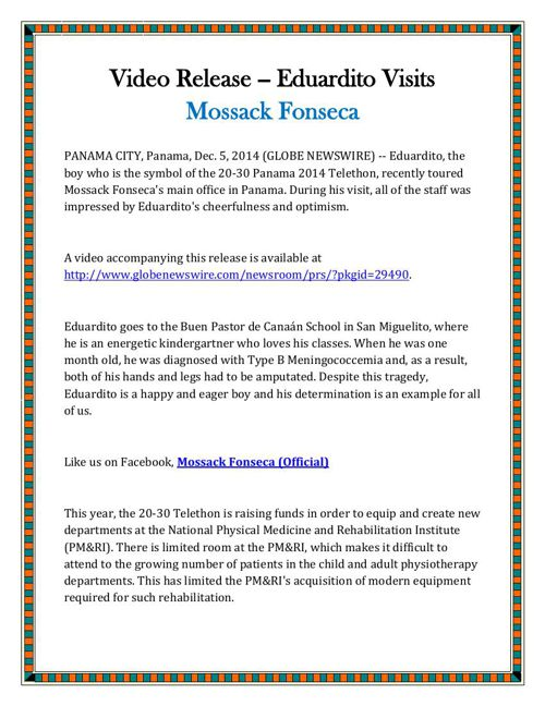 Video Release -- Eduardito Visits Mossack Fonseca