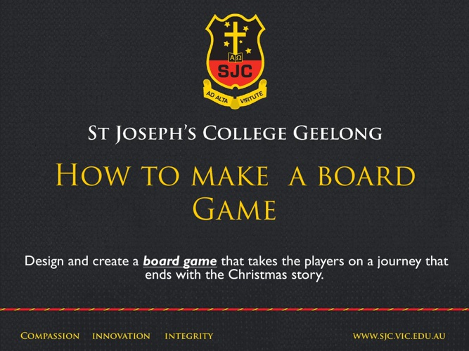 How to make a board game.