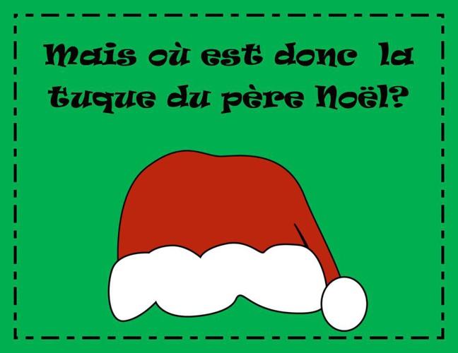 Mais où est donc  la tuque du père Noël