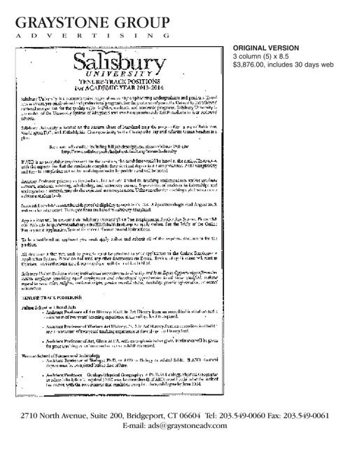 SalisburyUniv Graystone ads