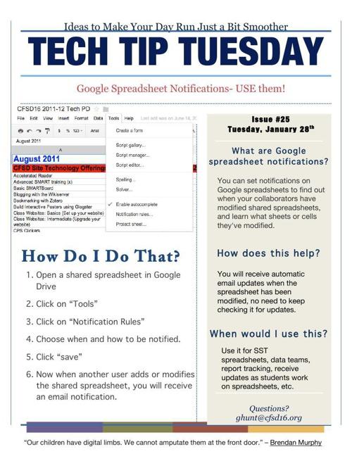TECH TIP TUESDAYS #1-7
