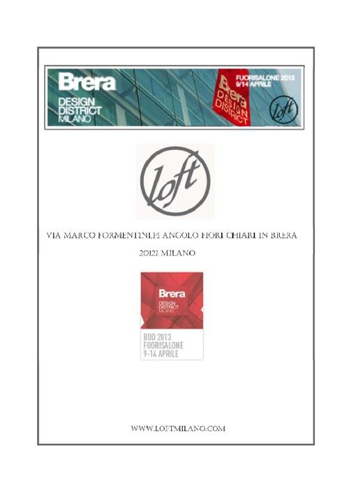 LOFT &ARCH.PRICILLA BRACCESI-FUORISALONE BDD 2013