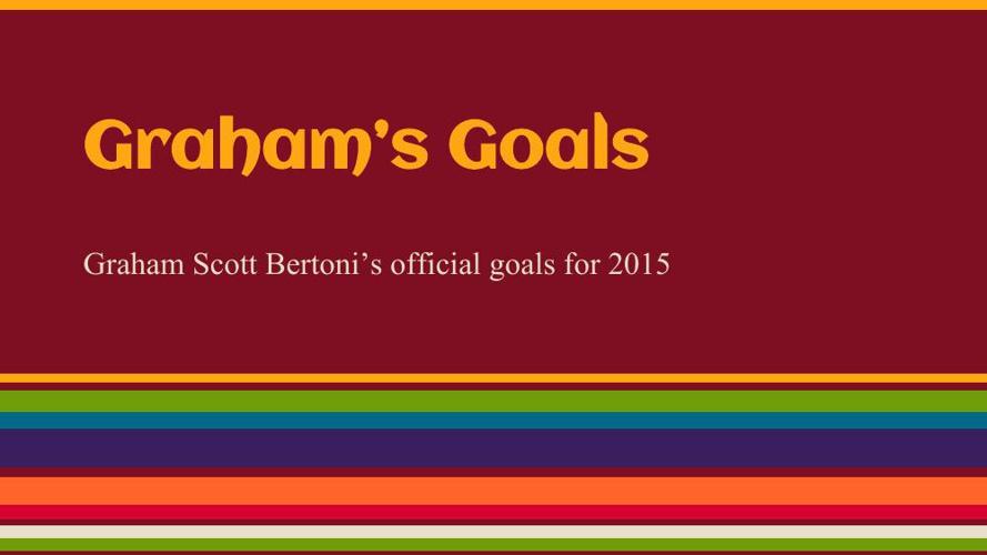 Goal Setting Template Graham Bertoni