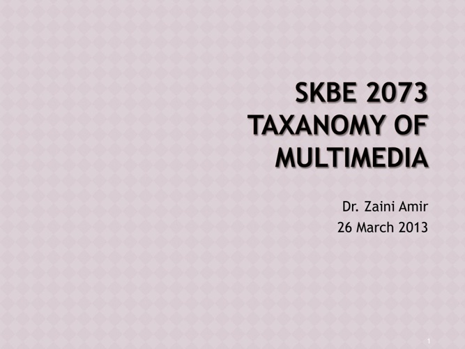 Taxanomy of Multimedia - sound and animation