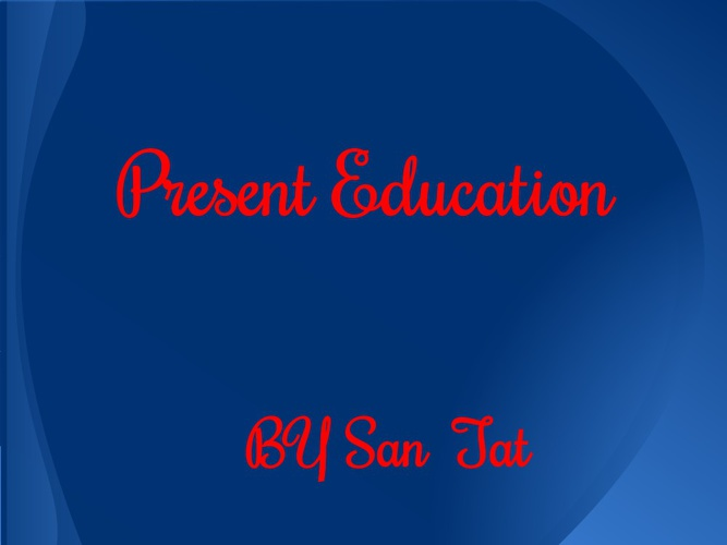 Flipping eBook on Present Education By San Tat