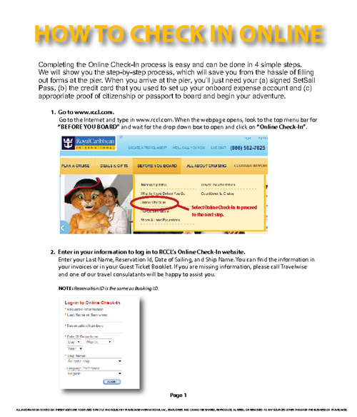 Directions to Check in Online