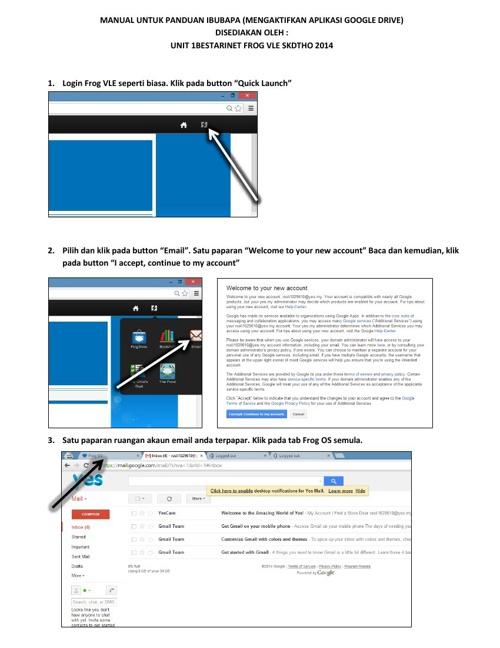 MANUAL UNTUK PANDUAN IBU BAPA aktif google drive