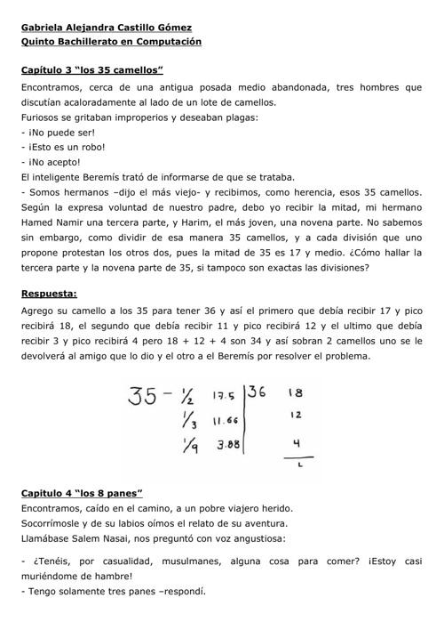 El Hombre que calculaba ( problemas)