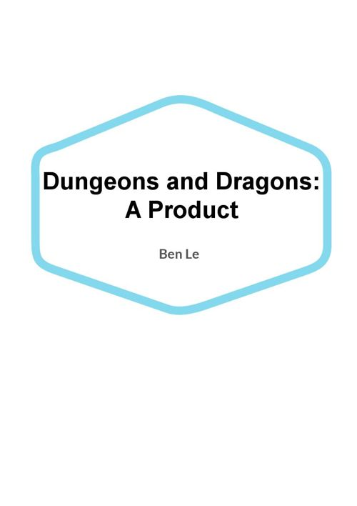 Dungeons and Dragons Senior Project