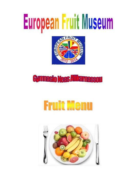 Greek fruit menu