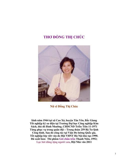 THƠ sách điện tử của Đồng Thị Ch úc