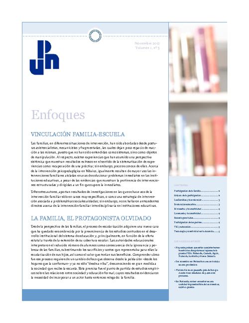 Boletín UPN 142 Noviembre 2012