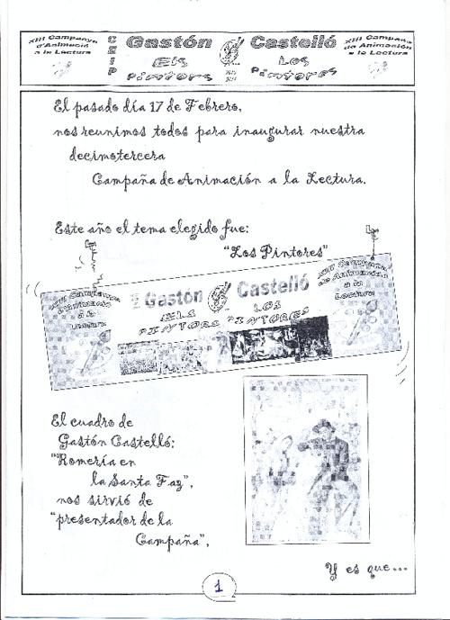 CAMPAÑA DE ANIMACIÓN A LA LECTURA LOS PINTORES 2010/11