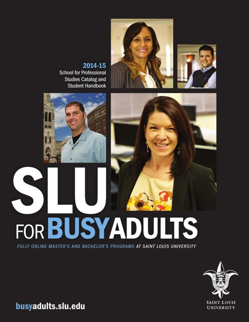 SLU for Busy Adults 2014-2015 Catalog & Student Handbook