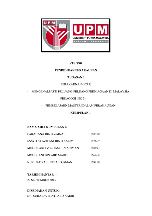 NO 7 MENGENALPASTI PELUANG PERNIAGAAN DI MALAYSIA DAN PEMBELAJAR
