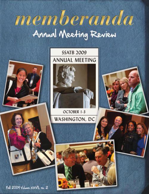 Memberanda, 2009 Annual Meeting Review
