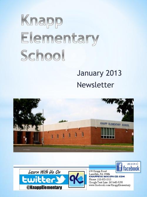 Knapp January 2013 eNewsletter