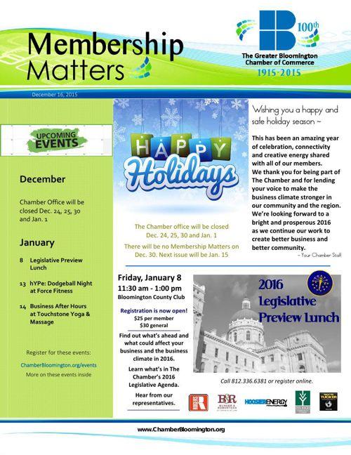 Membership Matters for 12-15-15