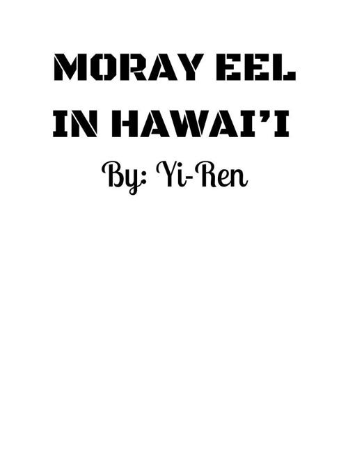 moray eel in hawai'i