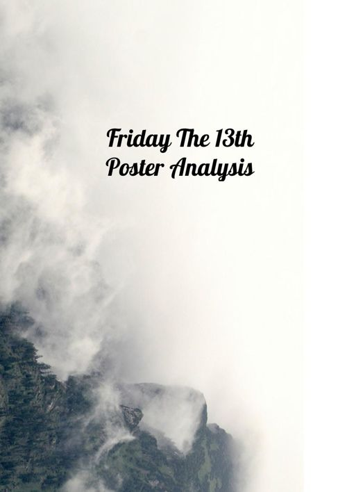 Friday The 13th Poster Analysis