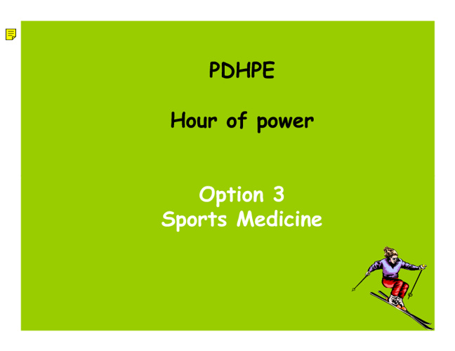 Option 3 Sports Medicine Stimulus