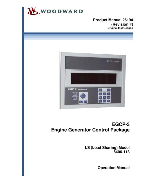 Manual de operación del EGCP-3