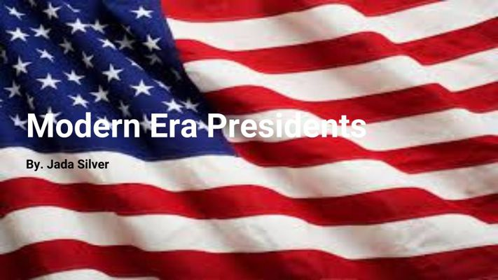 Modern Presidents Project - Jada Silver
