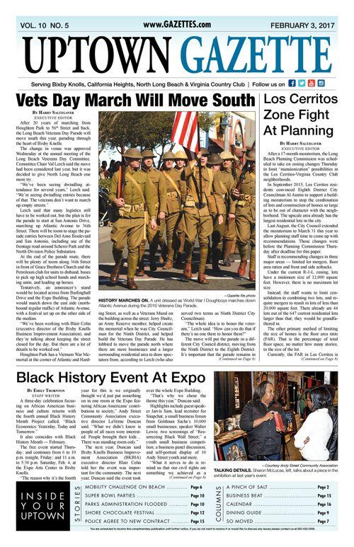 Uptown Gazette  |  February 3, 2017