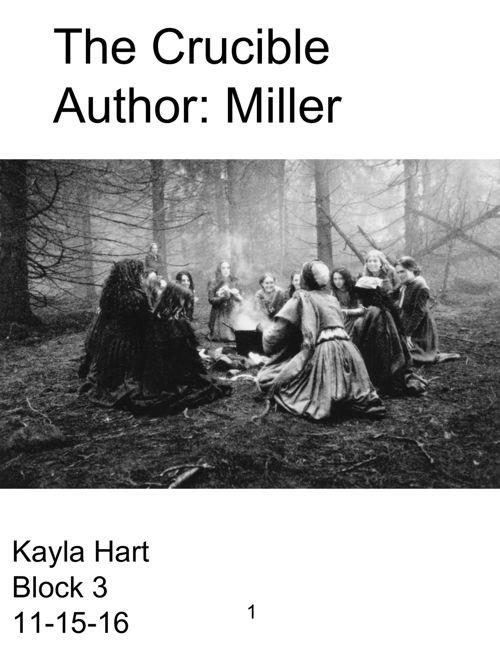 The Crucible Flip Book - Kayla Hart
