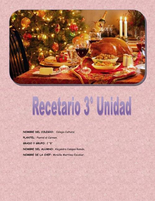 recetario gastronomia 3 evaluacion