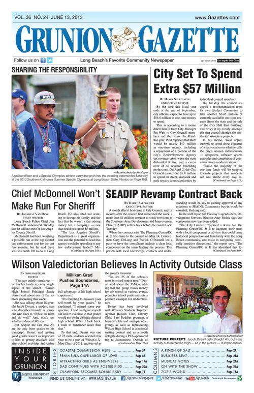 Grunion Gazette | June 13, 2013