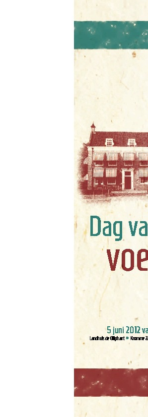 Menukaart dag van de voeding 5 juni 2012 Rotterdam