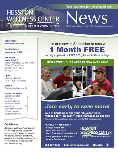 Fall 2016 | Hesston Wellness Center News