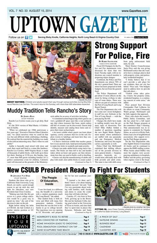 Uptown Gazette  |  August 15, 2014
