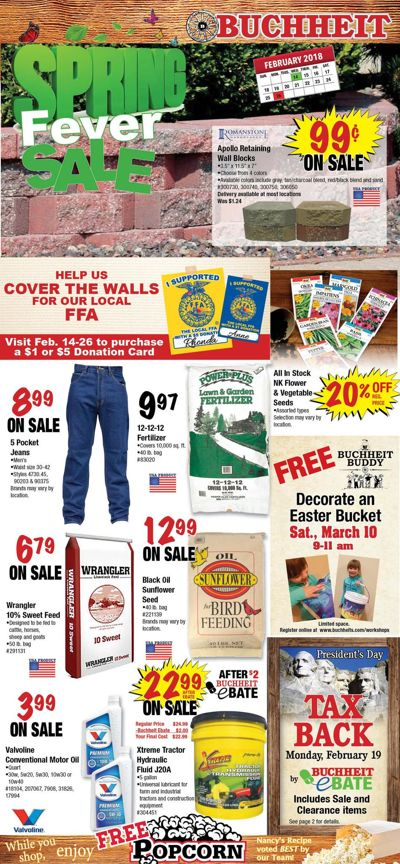Ad1804 2nd Sat. Spring Fever Sale