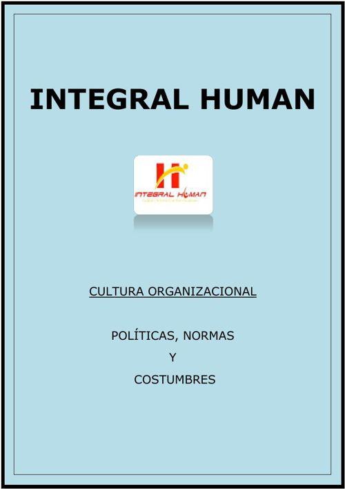 Cultura Organizacional-Integral Human