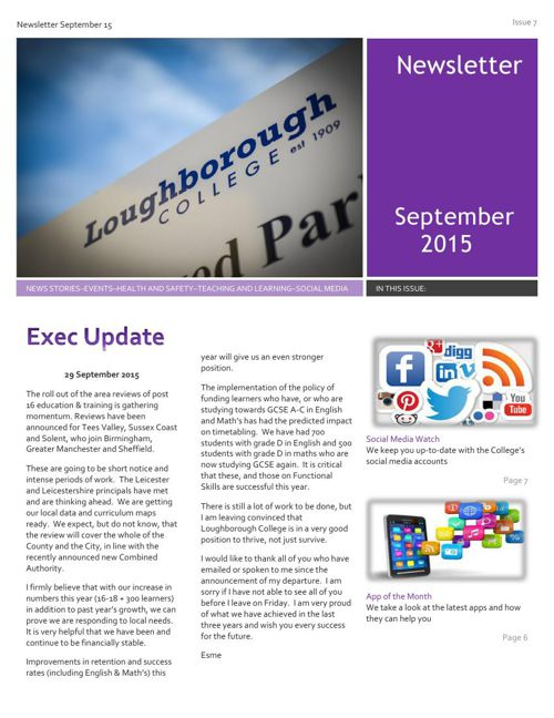 Newsletter September 15