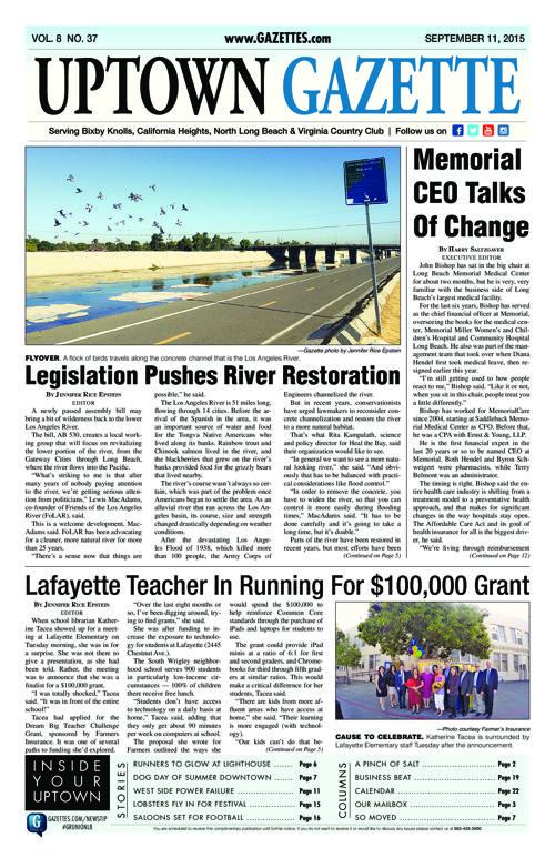 Uptown Gazette  |  September 11, 2015