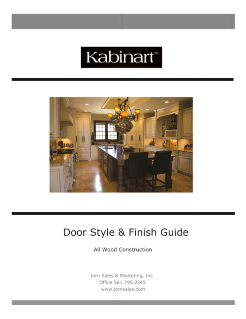 Kabinart Door Style Finish & Specification Guide