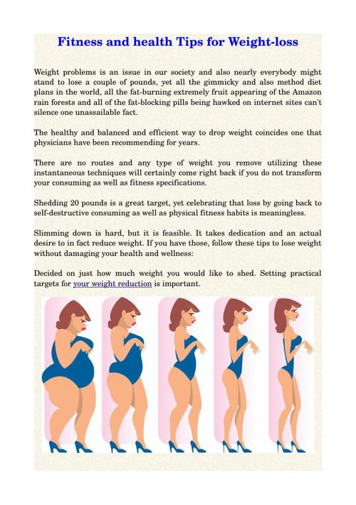 Fitness and health Tips for Weight-loss