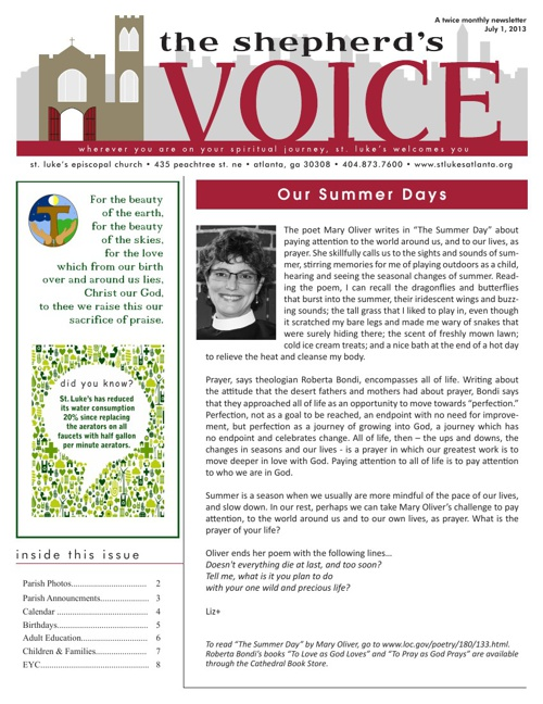 Shepherd's Voice July 1, 2013