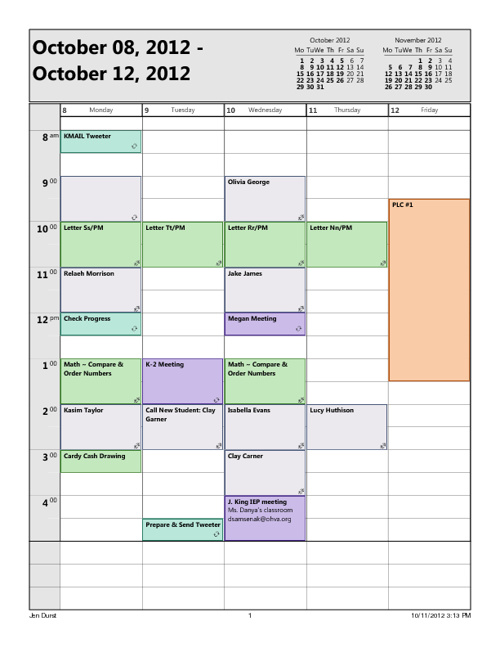 Block 3 Calendar