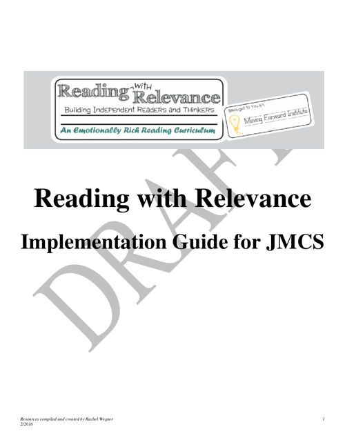 Reading with Relevance Implementation Guide PDF